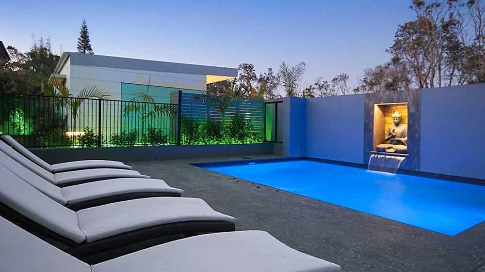 Magnesium salted outdoor pool