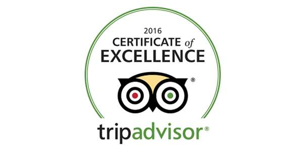 Trip Advisor 2016 Winner Badge